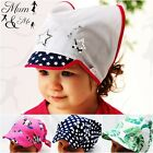 Kids Girls Toddler -Printed Head Sun Protection Adjustable Headband Bandana Hat