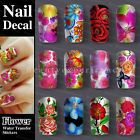 Fashion Nail Art Nail Decals Water Transfer Stickers Decoration DIY Easy Flowers