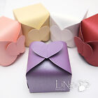 50/100pcs HEART Gift Candy Boxes 6x6x4cm Wedding Bridal Shower Party Favor Box