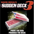 Sudden Deck 3 (+ 50 Disposable Decks FREE) by David Regal Bike Cards Magic Trick