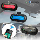 Wireless Bluetooth Handsfree Car Kit Sun Visor Clip Drive Talk iPhone Galaxy