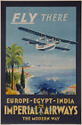 Vintage Imperial Airways Travel Ad print poster-4 sizes available