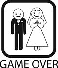 ADESIVO STICKERS DIVERTENTI MATRIMONIO GAME OVER