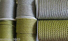 Gold Silver Metallic Piping Cord Rope 7mm , 5mm & 3mm Quality Sold Per Metre