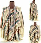 CharlesElie94 FABIOLA Women's Winter Knitted Poncho Cape Coat UK 8-18
