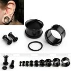 2x Stainless Steel 2-14MM Single Flare Ear Plugs Tunnels O-ring Horn Expander Ga