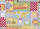 PATCHWORK/CRAFT FABRIC BABY MOON MULTICOLOURED  100% COTTON