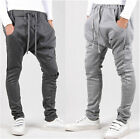 New Men Crotch Casual Sporty Hip Hop Dance Harem Baggy Sweat Pant Solid Trousers