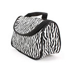 Womens Ladies Girls Cosmetics Bag Pouch Zebra Printed PVC Bags 10CmX21CmX12.5Cm