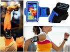 Slim Blue Sports Gym Running Armband Pouch Cover Case For HTC Accessory