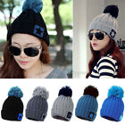 New Unisex Women Men Star Knit Crochet Ski Knitted Winter Warm Hat Beanie Cap