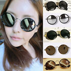 Retro Vintage 90s Womens Round Lens Sunglasses Glasses Goggles Steampunk Grunge