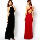 Women Sexy Cocktail Party Evening Prom Ball Formal Bridesmaid Chiffon Long Dress