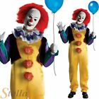 Mens Adult Deluxe Pennywise IT Killer Evil Clown Halloween Fancy Dress Costume