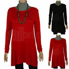 New Ladies Womens BHS Red or Black Fine Knit Tunic Jumper Top Smart Casual Work