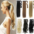 Wrap Around Clip In on Ponytail Hair Extensions real natural Ponytail Hair piece