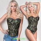 Lingerie Sexy Top Camouflage Corset & Thong Camo Basque PLUS 3X-6XL