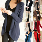 Stock Ladies Women Long Sleeve Knit Open Front Cardigan Jumper Coat Hot New