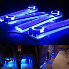 4 in 1 12V Blue Car Charge LED Interior Floor Decorative Light Atmosphere Lamp