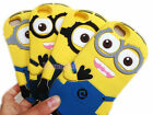 3D Cartoon Animal Yellow Two Eye Silicone Soft Rubber Case Cover For Phone