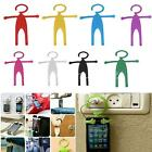 Flexible Hanging Human Shape Silicon Grip Car Stand Holder for iPhone 6 Samsung