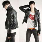 Crazy Sale Pretty Motorcycle SyntheticLeather Jacket Short Shoulder Strap Coat