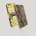 Cute Painted Leather Wallet Card Stand Flip Cover Case for iPhone 6 Plus & 4.7""