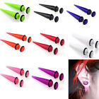 New 2pcs Acrylic Ear Plugs Taper Gauges Expander Stretcher Stretching Piercing