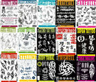 Tattoo Flash Books-Script, Japanese, Sketch, Sheets, Skulls, Design, Lettering