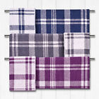 Catherine Lansfield Soft Reversible Kelso Check Tartan 100% Cotton Bath Towel