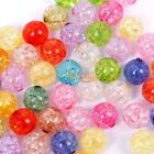 NEW Arrival 10MM 50 100pcs Mixed Colors Acrylic Round Spacer Loose Bead Charms