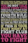 New The Rules of Fight Club Fight Club Poster