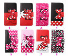 Cartoon Bowknot Leather Wallet ID Holder Flip Stand Case Cover For Phone DKS3