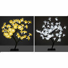 45cm Fibre Optic LED Cherry Flower Tree Indoor / Outdoor Christmas Decoration