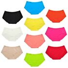 La Isla Women's 6 Pairs Seamless Laser-cut Soft Rise Invisibles Hipster Panties