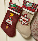 UR CHOICE OF1 PERSONALIZED CHRISTMAS STOCKING EMBROIDERED REINDEER SANTA MICKEY