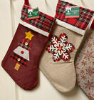 UR CHOICE OF1 PERSONALIZED CHRISTMAS STOCKING EMBROIDERED REINDEER SANTA MINNIE