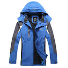 Mens Technical Jacket Waterproof Windproof Hooded Coat Breathable Outerwear Tops