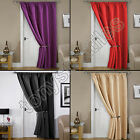 THERMAL BLACKOUT READY MADE ENERGY SAVING WINDOW DOOR CURTAIN PANEL BLACK CREAM