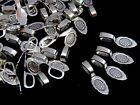 Tibetan Silver Fancy Glue on Bails Pendant 26mm Cabochon Jewellery Craft ML