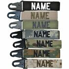 Custom Name Tape Key Chain with Belt Loop H&K clip HK Army USMC