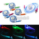Retractable LED Neon Light USB Charger Data Sync Cable Cord for iPhone 5 5S 6