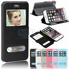 Wholesale Window View Flip Case Luxury Leather Folio Cover For iPhone 6 4.7 Inch