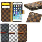 Luxury Grid PU Leather Wallet Flip Cover Folio Case For Apple iPhone 6 4.7 inch