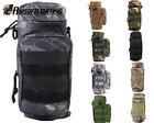 9Color Molle Zipper H2O Water Bottle Utility Medical Pouch Bag Holder Black/OD A