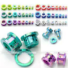 "Pair(2) Colorful 12g-1/2"" Dot Acrylic Double Flared Ear Tunnels Plugs Expander"