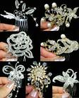 SALE Bridesmaid Prom Flower Girl Crystal Silver / Gold Tiara Hair Comb TC1049