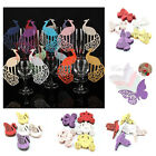1 Set 50pcs Wedding Birthday Party Cards Wine Cup Glass Tags Name Cards Creation