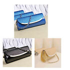 Shiny Korean Women's PU Leather Chain Shoulder Bag Party Evening Clutch Handbag