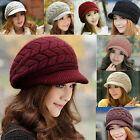2015 Fashion Womens Winter Warm Knitted Crochet Hat Lady Slouch Baggy Beanie Cap